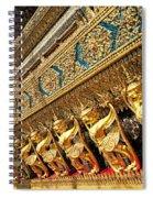 Temple In Grand Palace Bangkok Thailand Spiral Notebook