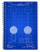 Tesla Electric Transmission Patent 1900 - Blue Spiral Notebook