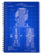 Tesla Electro Magnetic Motor Patent 1889 - Blue Spiral Notebook