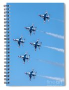 Thunderbirds In Formation  Spiral Notebook