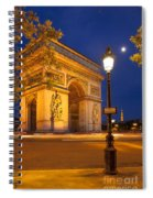 Twilight At Arc De Triomphe Spiral Notebook
