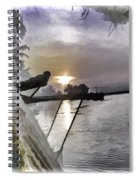 View Of Sunrise From Boat Spiral Notebook