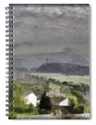 View Of Wallace Monument And Surrounding Areas Spiral Notebook