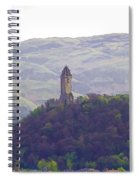 View Of Wallace Monument From The Heights Of The Stirling Castle Spiral Notebook