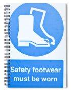 Warning Sign Spiral Notebook