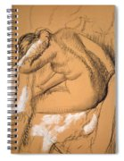 Woman Drying Herself  Spiral Notebook