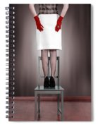Woman On Chair Spiral Notebook