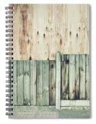 Wooden Background Spiral Notebook