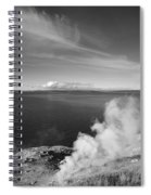 Yellowstone Lake And Geysers Spiral Notebook