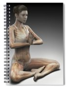 Yoga Meditation Pose Spiral Notebook