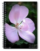 Zonal Geranium Named Tango Light Orchid Spiral Notebook