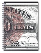 50 Cent Lincoln Bill  1863 Spiral Notebook