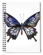 54 Ceylon Rose Butterfly Spiral Notebook