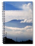 View Of Mt. Etna From Taormina Sicily Spiral Notebook