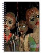 562 - Three Young Girls   Spiral Notebook