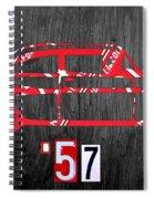57 Chevy License Plate Art Spiral Notebook