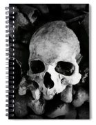 Skulls And Bones In The Catacombs Of Paris France Spiral Notebook