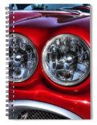 58 Vette Lights Spiral Notebook