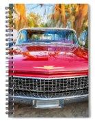 1960 Cadillac Eldorado Biarritz Convertible Painted  Spiral Notebook
