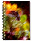 Bohemian Waxwing Spiral Notebook