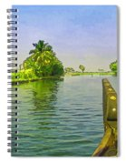 Captain Of The Houseboat Surveying Canal Spiral Notebook