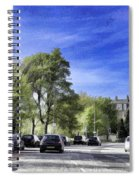 Cars On A Street In Edinburgh Spiral Notebook