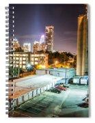 Charlotte City Skyline Night Scene Spiral Notebook
