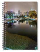 Charlotte Nc Skyline Covered In Snow In January 2014 Spiral Notebook