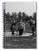 Children Playing Inside The Blair Drummond Safari Park Spiral Notebook