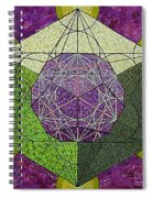 Dodecahedron In A Metatron's Cube Spiral Notebook
