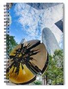 Financial Skyscraper Buildings In Charlotte North Carolina Usa Spiral Notebook