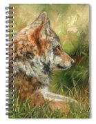 Grey Wolf Spiral Notebook