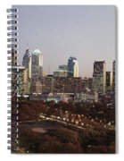 High Angle View Of A City Spiral Notebook