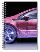 Hybrid Car Spiral Notebook