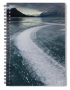 Ice Pattern On Frozen Abraham Lake Spiral Notebook