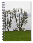 Loch Ness And Boat Jetty Next To Urquhart Castle Spiral Notebook