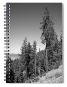 Mountainside Near Lake Tahoe Spiral Notebook