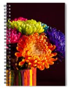Multicolored Chrysanthemums In Paint Can Spiral Notebook