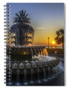 Sun Rays Over Waterfront Park Spiral Notebook
