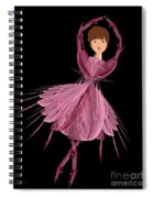 6 Pink Ballerina Spiral Notebook