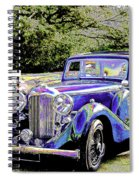 Psychedelic Classic Lagonda Spiral Notebook