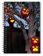 Pumpkin Escape Over Fence Spiral Notebook