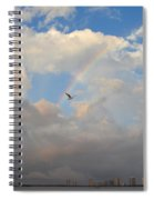 6- Rainbow And Seagull Spiral Notebook