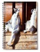 Ring Tailed Lemurs Spiral Notebook