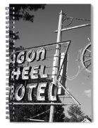 Route 66 - Wagon Wheel Motel Spiral Notebook