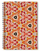 Seamlessly Tiled Kaleidoscopic Mosaic Pattern Spiral Notebook
