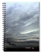 Severe Warned Nebraska Storm Cells Spiral Notebook