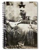 Sleeping Woman, C1900 Spiral Notebook