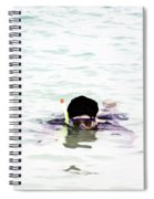 Snorkelling In The Lagoon Inside The Coral Reef Spiral Notebook