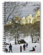 Snowboarding  In Central Park  2011 Spiral Notebook